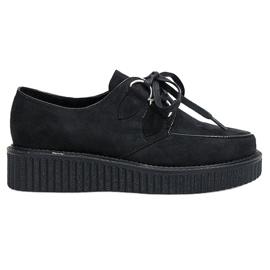 Černá Boots Creepers Na platformě Rose Black
