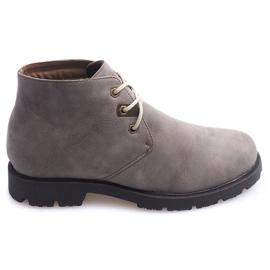 Vysoké ležérní boty vázané 81909 Taupe
