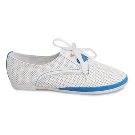 Černá Prolamované boty Jazzówki CS002 Bílá
