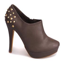 Elegantní kotníkové boty na Khaki 8860P