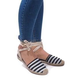 Černá Sandály Espadrilles Baletní boty Balerinki 6368 Black