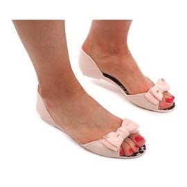 Sandály Flip Flops KM01 Béžová hnědý