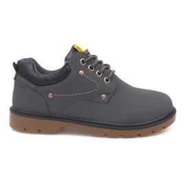 Šedá Klasická obuv Boty JX-20 Gray