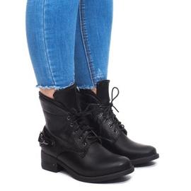 Šněrovací boty V-7 Black černá