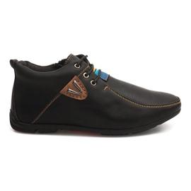 Vysoké Warming boty vázané WF622-3 černá