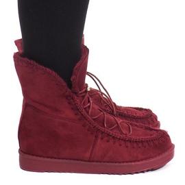 Správně zahřáté boty R148 Burgundsko červená