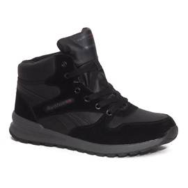 Izolované sněhové boty H1738B Black černá