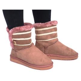 Růžový Czarne Eskimoski 89-67 Růžová
