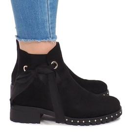 Semišové boty DR1798-64 Black černá