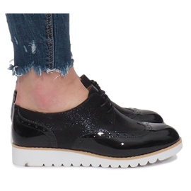 Černá Černé boty Delphine Jazzówki