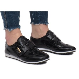 Černá Černé Boty Na Velcro Denise