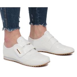 Bílá Bílé boty na suchý zip Denise