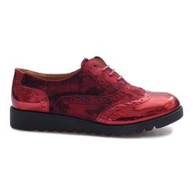 Červená Červené semišové boty Adele