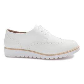 Hnědý Bílé boty Delphine Jazzówki