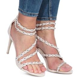 Béžové sandály Montana hnědý