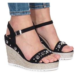 Sandály sandál Black Glam Shine černá