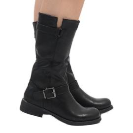 Sixth Sens černá Černé elegantní boty JW19