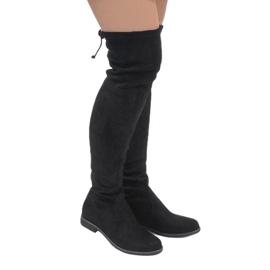Erynn černá Černé semišové boty A26