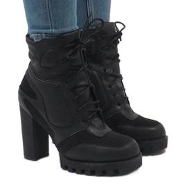 Vices černá Černé boty na postu 9132-1