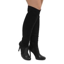 Černá Černé boty na čepu 8020