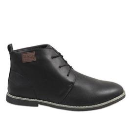 Černá Černé pánské boty 989-1