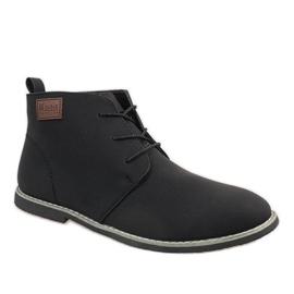 Černá Černé pánské boty 989-2
