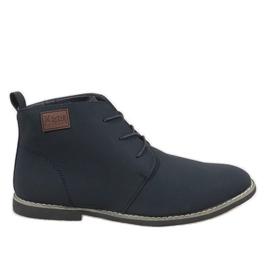 Válečné loďstvo Pánská modrá obuv z materiálu 989-3