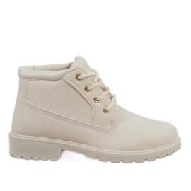 Hnědý Béžové boty značky W-3056