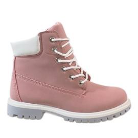 Růžový Růžové kalhoty 851