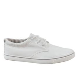 Bílá Bílé klasické pánské tenisky BK-6005