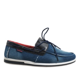 Válečné loďstvo Tmavě modrá elegantní mokasíny boty AB108-1