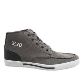 Hnědý Hnědé elegantní vysoké boty F10455