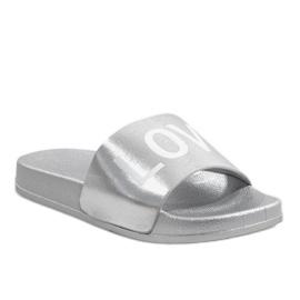 Stříbrné žabky lásky 812A šedá