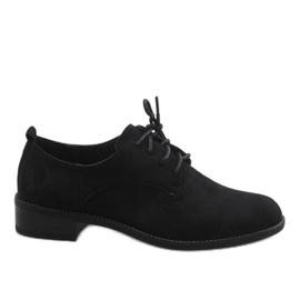 Černá Černé jazzové boty s semišovými botami C-7183
