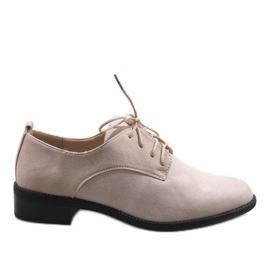 Hnědý Béžová jazzová obuv s semišovou botou C-7183