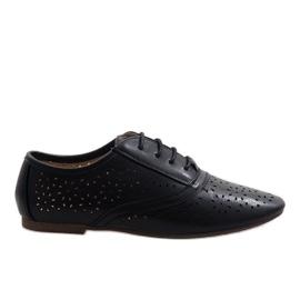 Černá Černé prolamované jazzové boty Oxford 3