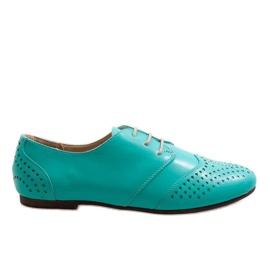Zelená Zelené prolamované jazzové boty Oxford 1