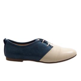 Béžové oxfordské dvě oxfordské boty