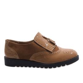 Hnědý Velbloudí jazzové boty semišové boty TL-63