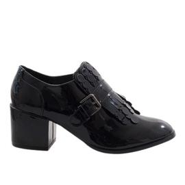 Černá Černý patent vysoké podpatky PZY-02