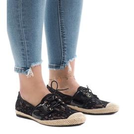 Černá Černé prolamované jazzové boty, YW-888