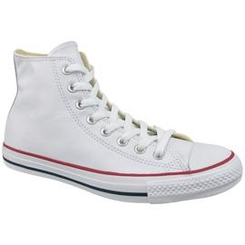 Bílá Converse Chuck Taylor All Star Hi kůže na 132169C