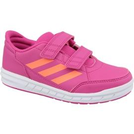 Růžový Adidas AltaSport Cf Jr G27088 růžové boty