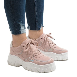Růžový Růžová sportovní obuv HX999