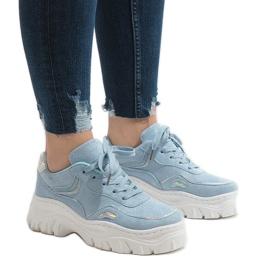Modrý Modrá sportovní obuv HX999