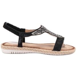 Emaks Slip Espadrilles sandály černá