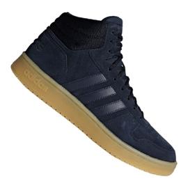 Basketbalové boty adidas Hoops 2.0 Mid M F34798 námořnická modř válečné loďstvo