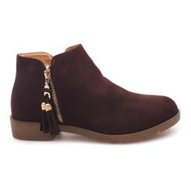 Hnědý Semišové boty Jodhpur 8565 Brown