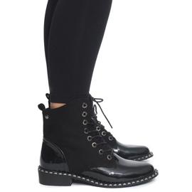 Černá Exkluzivní botičky lakované BL-29 Black