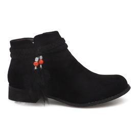 Černá Semišové boty Jodhpur boty H1911 Black